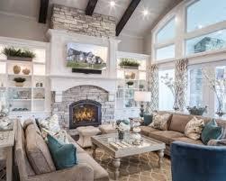 Rustic Formal Living Room Idea In Salt Lake City With Gray Walls Dark Hardwood Floors