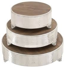 3 Piece Wooden Cake Stand Set Traditional Dessert And Cake