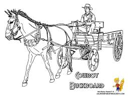 Print Out Cowboy Coloring Page Picture Of Riding A Buckboard