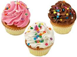 Amazon Fake Cupcakes 3 Pack Sprinkle Cupcake Home Kitchen
