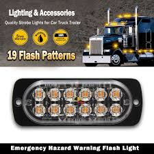 12 LED Amber Strobe Flashing Recovery Lights Car Truck Bright ... Damega Flex 4 Slim Led Grille Light 10 Pack Mounted Warning And 12 Grille Light Emergency Lighting Safety Northern Mobile Electric 4x Amber Strobe Bar Car Truck Beacon Visual Signals Signaling Platforms Beacons Primelux 30inch 72x3w Automotive Tir Lights 2 X 9 Automotive Vehicle Warning Emergency Lighting Car Round Led Whosale Trailer Home Page Response Vehicle Lightbars Recovery Daytime Flash Light Police Autos Running 24 For Trucks Jeep Suv Cars 12v Universal