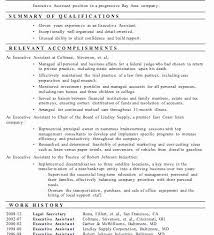Sample Resume For Executive Assistant To Ceo Positive Personal Template