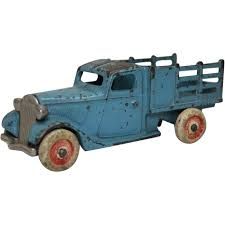 100 Ford Toy Trucks 1933 Arcade Blue Stake Truck With Nickel Platted Grill
