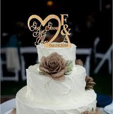 Custom Personalized Wedding Cake Topper God Gave Me You CakeTopper Decoration Decor Rustic