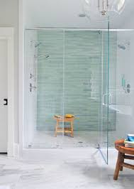 it s bath time shower pan aqua glass and marble floor