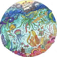 Mandala Coloring Ocean Colors Adult Books Colouring Joanna Basford Tag Photo Drawing Stuff Octopus