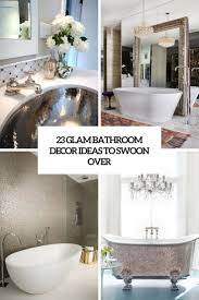 23 Glam Bathroom Decor Ideas To Swoon Over - DigsDigs Bathroom Inspiration Idea Diy Decor Ideas Have You Made For Simple And Elegant Bath Decorating Rustic Wall 17 Modern Bathroom Decorating Ideas 15 Victorian Plumbing 31 Cheap Tricks For Making Your The Best Room In House Extraordinary Powder Spa Pictures Collect This Pullouts Relaxing Flowers That Will Refresh 21 Small Fniture Apartment On A Budget Amazing Country Outhouse