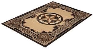 Rugs 4 Less Collection Texas Lone Star State Novelty Area Rug R4l 723 Black