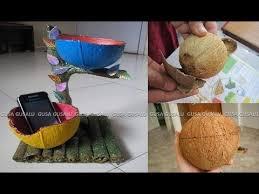 DIY Coconut Shell Art