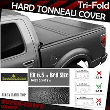 Lock Hard Solid Tri-fold Tonneau Cover For 2004-2014 FORD F-150 6.5 ...