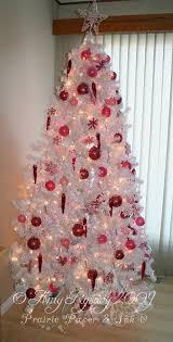 Pink Decoration White Christmas Tree 04
