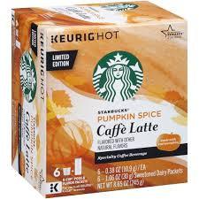 Starbucks Pumpkin Spice Caffe Latte K Cups Limited Edition 2 Boxes Amazon Grocery Gourmet Food