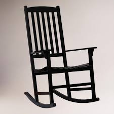 Black Porch Rocking Chair