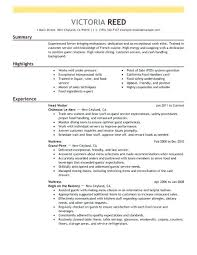 Resume Objective Server Examples For Create My
