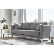 canapé 3 places gris canape 3 places fixe doblo gris clair achat prix fnac