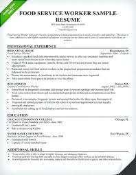 Food Service Manager Resume Examples Worker Sample Use This Industry As A Template To Help Write