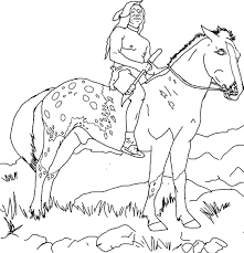 Spirit Animal Coloring Book Pages Az The Horse