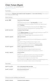Project Manager Resume samples VisualCV resume samples database