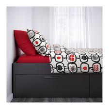 BRIMNES Bed frame with storage Queen Leirsund IKEA
