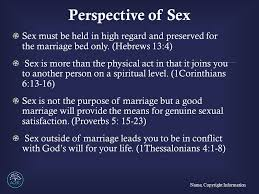 The Marriage Bed Is Undefiled by Biblical View Of Sexuality Name Copyright Information Ppt Download