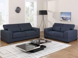 canape 3 places tissu canapés 3 2 places tissu convertible salto bleu nuit prix promo