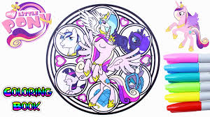 My Little Pony Coloring Book Cadance Shining Armor Celestia Luna