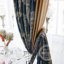 custom high end blau jacquard vorhänge für wohnzimmer
