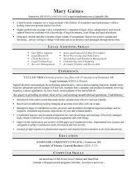 Legal Assistant Resume Sample