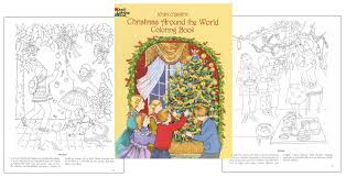 Christmas Around The World Coloring Book Holiday Traditions To
