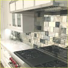 antique mirror tile backsplash antique mirror tiles kitchen update