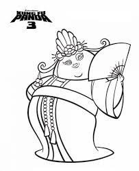 Panda Coloring Pages Kids N Fun 7 Of Kung Fu 3 Online