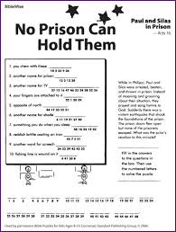 A Great Site Of Free Printables For SS Like This Fun Decode The Message Activity Page About Paul And Silas In Prison