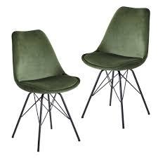 esszimmerstuhl 2er set samt grün küchenstuhl mit schwarzen beinen schalenstuhl skandinavisches design polsterstuhl mit stoffbezug stuhl