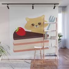 100 Decorated Wall Cute Kawaii Hamster With Fork Sweet Cake Decorated With Fresh