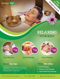 Spa Flyer Design Download Free Wellness Psd Templates For Photoshop