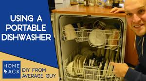 Whirlpool Portable Dishwasher Faucet Adapter by How To Use A Portable Dishwasher Youtube