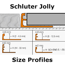 Schluter Tile Trim Uk by Schluter Jolly Acg Straight Edge Polished Chrome Anodised
