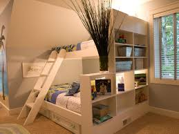 white wooden bunk beds cozy bedroom interior design with cool