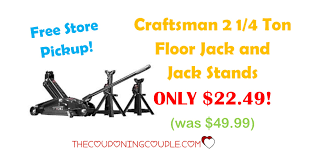craftsman 2 1 4 ton floor jack and jack stands only 22 49 was