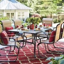8 Person Patio Table by 6 7 Person Patio Dining Furniture The Home Depot Outdoor Table