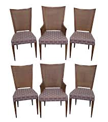 Widdicomb Mid Century Cane Back Dining Chairs - 6 Set Of Four Ethan Allen Cane Back Ding Chairs Ebth Chair Fniture Outlet Atlanta Fair Eastgate Row Spokane Room French Provincial Cane Back Ding Chairs Thomasville Room Ideas Eight Mid Century Modern S8 Milo Baughman New Fabric Chrome Pair Vintage French Country Arm 2 Ideas On For Sale Au Uk Pwick Antiques English And Montgomery Alabama Fishmag