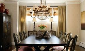 Crystal Dining Table Beaded Chandelier Over Glass Top Baccarat