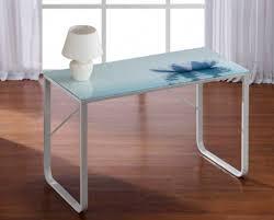 bureau en verre blanc bureau en verre blanc salon bureau ultra design 120 cm coloris