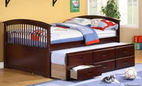 espresso full size captain bed with twin trundle and 3 drawers