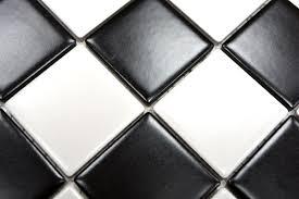 mosaik fliese keramikmosaik weiß schachbrett schwarz weiß matt 16 cd202