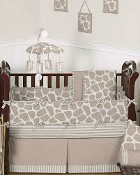 neutral giraffe baby bedding by sweet jojo designs 9 piece crib set