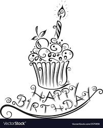 Birthday Cupcake Drawing