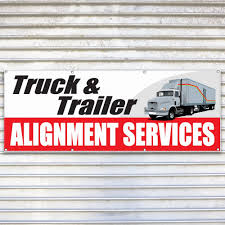 100 Commercial Truck Alignment Trailer Services Banner
