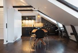 Attic Kitchen Ideas Apartment In The Attic In The Scandinavian Style Home