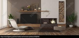 lizenzfreies bild 27628781 modernes wohnzimmer mit kamin und